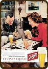 1960 SCHLITZ BEER Vintage Look DECORATIVE METAL SIGN - MAN & WOMAN PLAY MONOPOLY