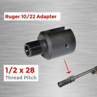 """1/2""""x28 Barrel End Threaded Pitch Adapter 10/22 CNC Alloy Steel Muzzle Tool"""