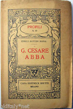 1939 Enrico Bottini Massa-G.Cesare Abba- Profili Casa Editrice Bietti - n°40