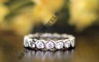 Wedding Band Vintage Style Eternity Ring 2.5 Ct Diamond 14K White Gold Over