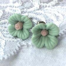floral pink green duck egg blue stud earrings new jewellery day 1cm flower