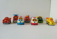 vTECH Go Go Smart Wheels Light Up~Lot 7~Helicopter~FireTruck~Police~Ambulace~Rac
