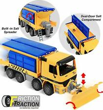 Snow Removal Plow Truck Construction Toy Vehicle Friction Powered Jumbo Kids