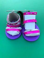 Build a Bear Full Size Teddy Bear Honey Girls Pink Strap Sandals - New
