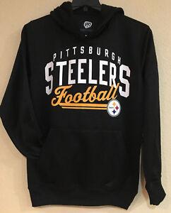 Pittsburgh Steelers Men's Hooded Pullover - Screen Printed Logo by G-III - NFL