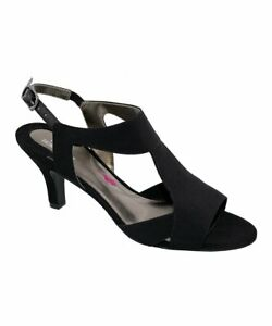 Black Microtouch Lucky Sandal - Women