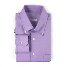 $375 NWT CARUSO Lilac Purple 100% Cotton Button Down Collar Dress Shirt XL