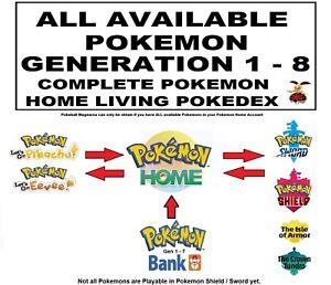 ✨ Pokemon Home Generations 1-8 Pokedex ✨ Pokemon Shield & Sword & Let's go ✨