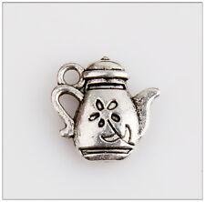 45 Tea Pot Tibetan Silver Charms Pendants Jewelry Making Findings 0E4C8F