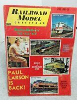 Railroad Model Craftsman Magazine April 1966 Z N HO S O G vintage