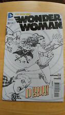 Wonder Woman # 21 Aug 2013 1:25 Black White Variant cover New 52 DC - VF+