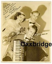 YOUMAN BROTHERS AND FRANCES Vaudeville Band Dance George Dixieland Jazz Bros