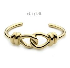 24k GOLD PLATED CHUNKY INFINITY ROPE KNOT BRACELET - HINGED BANGLE WITH GIFTBOX