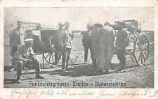 Deutsche Kolonien in Südwestafrika Funkentelegraphen Station AK 1908