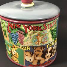 SAKURA Stoneware Cookie Jar Vintage Labels Collection Brand New in Box