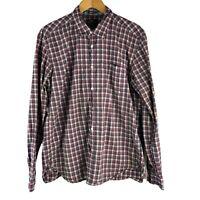 L.O.G.G. H&M Men's Size XL Plaid Button Down Shirt