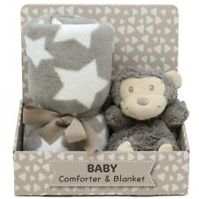 Cute n Soft Monkey Comforter & Blanket Newborn Baby Shower Unisex Gift Set