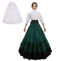 Victorian Women Civil War Dress Reenactment Theater Corset Costume Gown