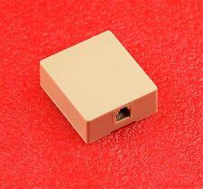 Steren Rj11 Single 4C Tel. Surface Jack, Ivory Biscuit Block 4 Conductor #T062