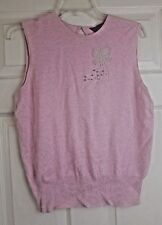 Dorothy Perkins Ladies Pink Sleeveless Beaded Diamante Tank Top Vest Size 16/44