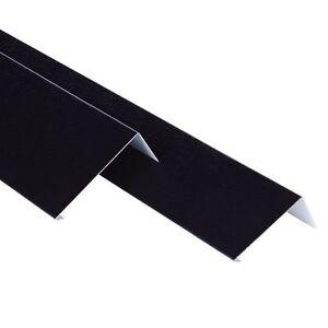 Flat Roof Metal Flashing Trim 3m Lengths Black Grey EPDM Rubber Roofing 40mm
