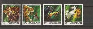 SINGAPORE 1971 SINGAPORE ZOO  SET OF 4 MNH