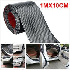 10cm*1M Carbon Fiber Rubber Car Edge Door Sill Trunk Guard Strip Decal Decor