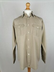 Mens Tommy Hilfiger Long Sleeve Shirt (0261037) Size Medium Relaxed Fit Check