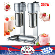 Stainless Steel Milk Shake Machine Double Head Drink Mixer 110v 300w 1l Cup Usa
