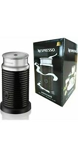NESPRESSO BY MAGIMIX AEROCCINO 3 MILK FROTHER BLACK NEW LATTE CAPPUCCINO SHAKES