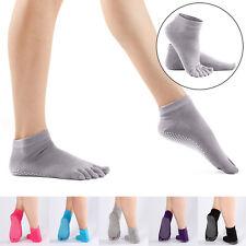 Five Toe Yoga Fitness Grip Excercise Socks Sport Rubber Pilates Non Slip Socks