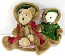 Boyds Bears Lot of 2 Stuffed Plush Collectibles Christmas Bears No Tags