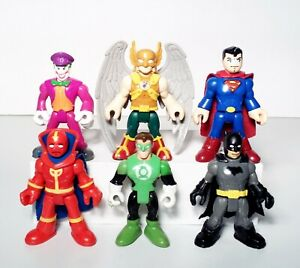 Imaginext DC Justice League Lot 6 Hawkman Red Tornado Superman Joker Figures