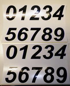Number stickers self adhesive vinyl Black