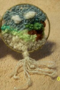 Pretty Miniature Hanging Yarn Art for Doll House
