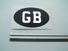 GB CAR STICKER Black Oval Classic retro Self Adhesive Chrome GB Vinyl on Black