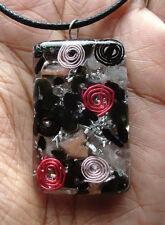 EMF Protection - Black & Pink Orgone Pendant - Lepidolite, Aventurine, ORGONITE