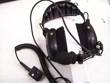 1-OTTO DUAL HEADSET W/ BOOM MIC NOISE CANCEL FOR GE MRK V4-10345 OVER THE HEAD