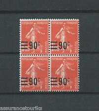 SURCHARGÉS - 1926 YT 227 bloc de 4 - TIMBRES NEUFS** LUXE