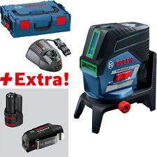 Bosch point-et Lignes Laser GCL 2-50 CG Avec 2x 2,0 Ah Batterie, Adaptateur USB, L-Boxx