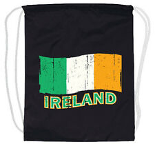 Ireland Irish Flag drawstring backpack tote bag cinch sack lightweight cotton