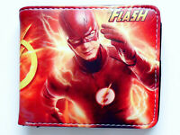 The Flash Super Hero Bifold Wallet purse id window card Slots pocket
