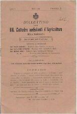 BOLLETTINO RR. CATTEDRE AMBULANTI AGRICOLTURA DELLA BASILICATA - 1909 A. I n. 3
