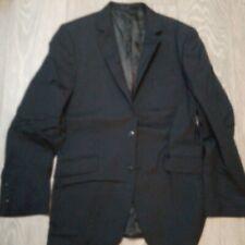 MENS dark Blue black  Suit JACKET Office etc  JOHN LEWIS 38R NEW