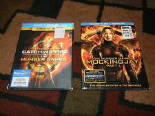 THE HUNGER GAMES/CATCHING FIRE & MOCKINGJAY PT.1, BLUE-RAY, 4-DISCS SET, 3 MOVIE