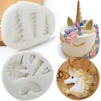 3D Unicorn Silicone Mould Fondant Chocolate Cake Sugarcraft Mold Baking Tools
