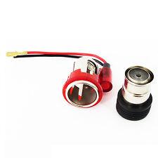 Cigarette lighter plug & socket for Ford Fiesta Focus Mondeo Esc 12V Red light