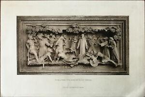 Gethsemane, Terra Cotta Panel by George Tinworth. J. S. Virtue. Vintage Print