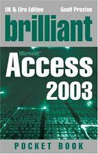 Brilliant Access 2003 Pocketbook (Brilliant Pocket Book),Mr Joe Habraken