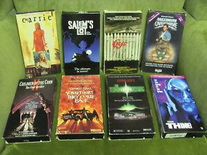 Lot of 8 VHS Horror Stephen King